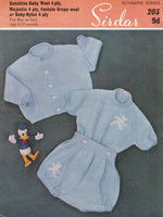 vintage baby romper suit and jumper knitting pattern 1960s