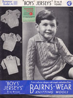 boys jumper knitting pattern 1930s