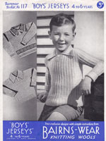 boys jumper knitting pattern vintage 1930s including fair isle