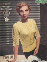 vintage ladies knitting pattern from 1930s