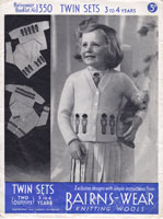 vintage golly jumper for little girl 1940s knitting patterns