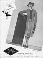 vintage ladies knitting pattern copley984 ladies suit 1930s