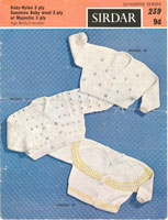 vintage knitting pattern for baby