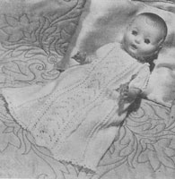vintage baby doll knitting pattern long dress 1954