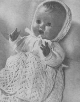 vintage baby doll layette knitting pattern 1955