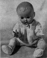 vintage baby girl doll knitting pattern 1956