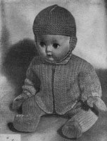 vintage baby boy doll knitting pattern 1956
