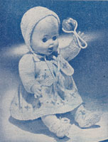 vintage baby doll knitting pattern 1960