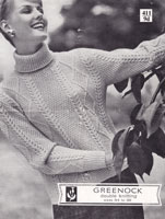 vintage knitting pattern for ladies cardigan and jumper 1950s