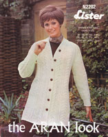 ladies jacket aran knitting patterns