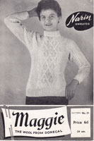 vintage knitting pattern ladies jumper