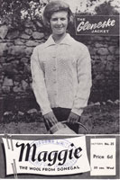 vintage knitting pattern aran jacket