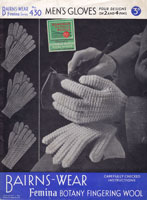 gloves knitting pattern 1930s mens