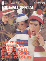 mens hats and scarf football 1970s