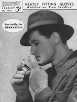 vintage mens glove knitting patterns gloves