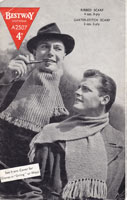 mens scarf knitting pattern 1940s