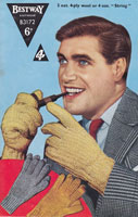 vintage mens gloves knitting pattern 1950s