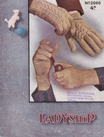 vintage mens knitting pattern gloves 1940s