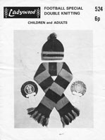 mens knitting pattern vintage hats scarf 1960s