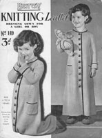 vintage child fressing gown knitting pattern 1940s