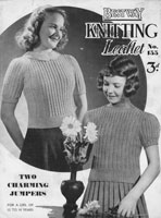 vintage girls jumper knitting pattern 1930s