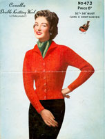 vintage ladies cardigan knitting patterns