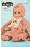 vintage baby doll knitting pattern