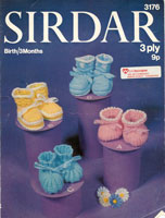vintage baby bootees knitting patterns