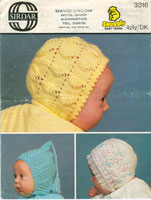 vintage knitting pattern for baby hats