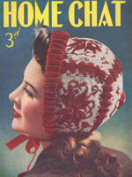 vintage ladies fair bonnet knitting pattern from 1940 home chat