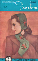 vintage ladies fair isle bonnet and mittens knitting pattern from 1940s penelope m1265