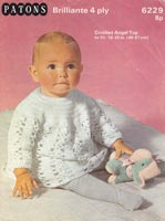 crochet pattern for babies dress vintage