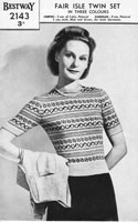 vintage ladies fair isle jumper