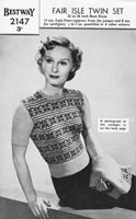 vintage fair isle jumper for lady