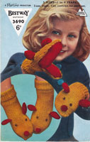 vintage childrens glove animal knitting patterns