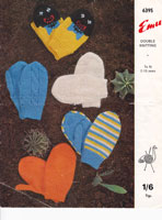 vintage childrens mitts knitting patterns