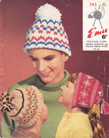 vintage fair isle hats for children