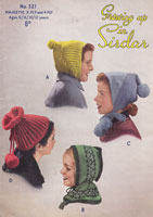 vintage childs hats knitting patterns