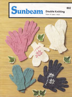 vintage knitting pattern for winter gloves for children