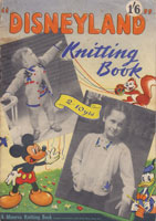 vintage disney knitting pattern book 1949