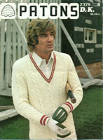 vintage mens cricket knitting pattens