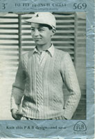 vintage boys cricket jumper knitting pattens