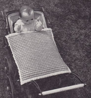 vintage knitting pattern 1950s dolls blanket