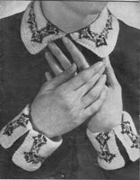vintage ladies collar and cuffs fair isle 1940s