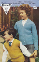 vintage knitting patternchilds cardigan and tank top knitting pattern 1950s
