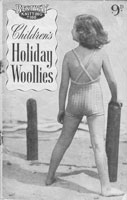 vintage knitting patterns for childs and babies beach wear swim suits 1940s