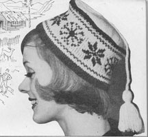 vintage ladies knitting pattern fair isle hat