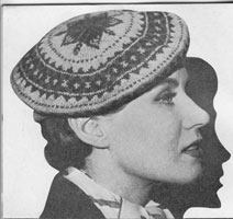 vintage ladies fair isle hat knitting patterns