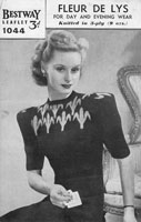 vintage fair isle ladies jumper knitting pattern from 1940 wartime