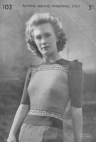 ladies knitting pattern wartime1940s